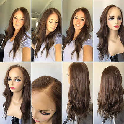 "LT124: FULL WIG LACE TOP M CAP 24"" MOUSSE"