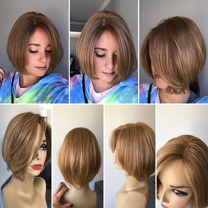 "VP2: silk top piece 5x5 russian hair 10-12"""