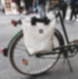 Individuelle Fahrradtasche aus LKW-Plane handgefertigte bikebag TORTAS