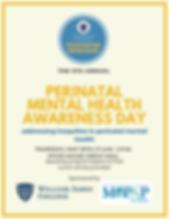Flyer - Perinatal Mental Health Awarenes