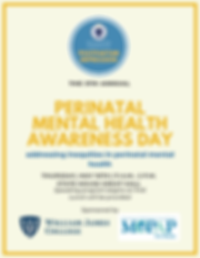Flyer - Perinatal Mental Health Awarenes
