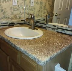 Bathroom Countertop with Rock Edge