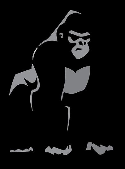 Silverback Gorilla transparent backgroun