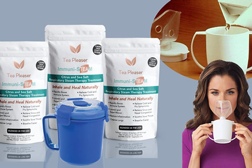 3PK Immuni-STEAM with Inhaler AND Vent Steam Cup Bundle Saver