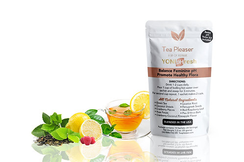 YONIpHresh pH Balance Tea Includes Free pH Tester Kit