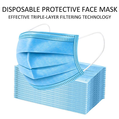 50 Disposable Masks 3 Ply