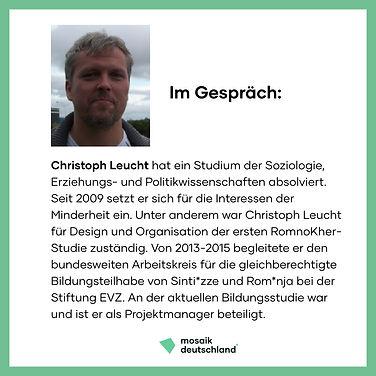 Christoph Leucht, Bildungsstudie, Podcast, Antiziganismusprävention