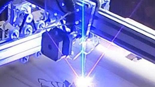 Лазерная гравировка на изделии