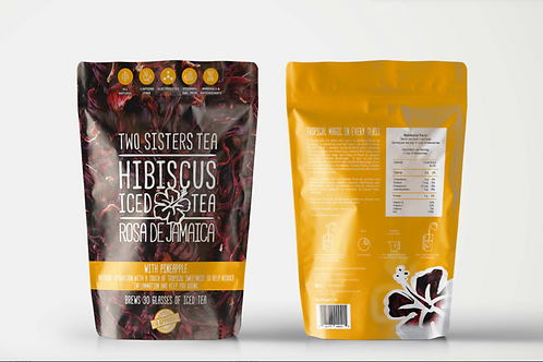 Hibiscus Iced Tea with Dried Pineapple