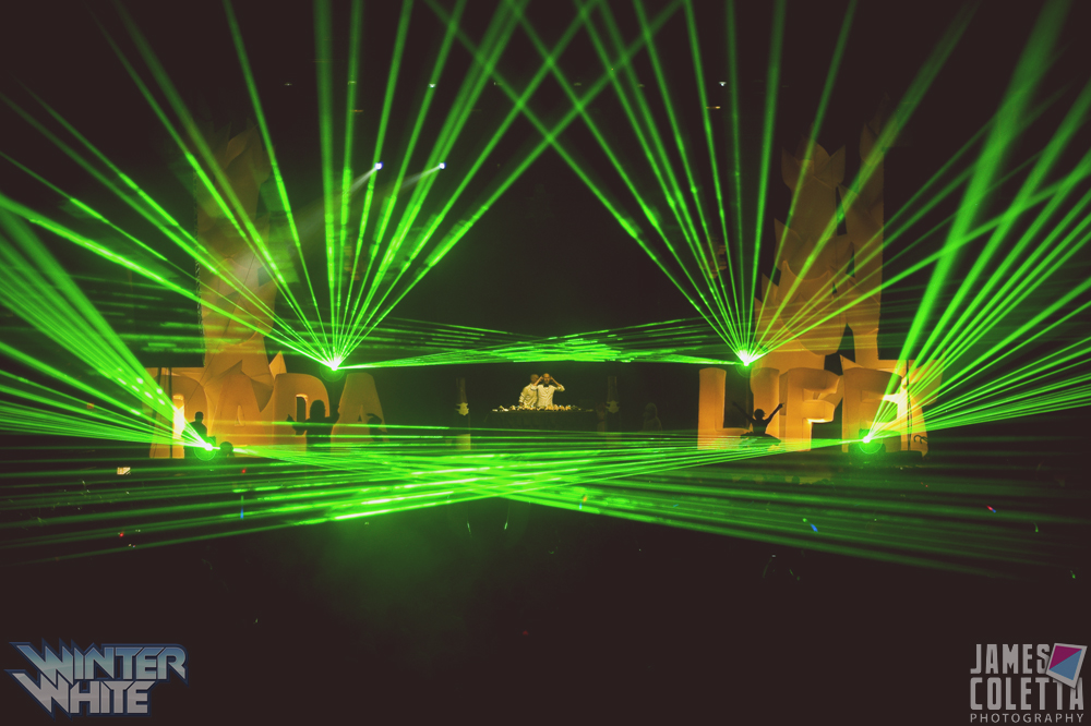 winter white tour with lasers