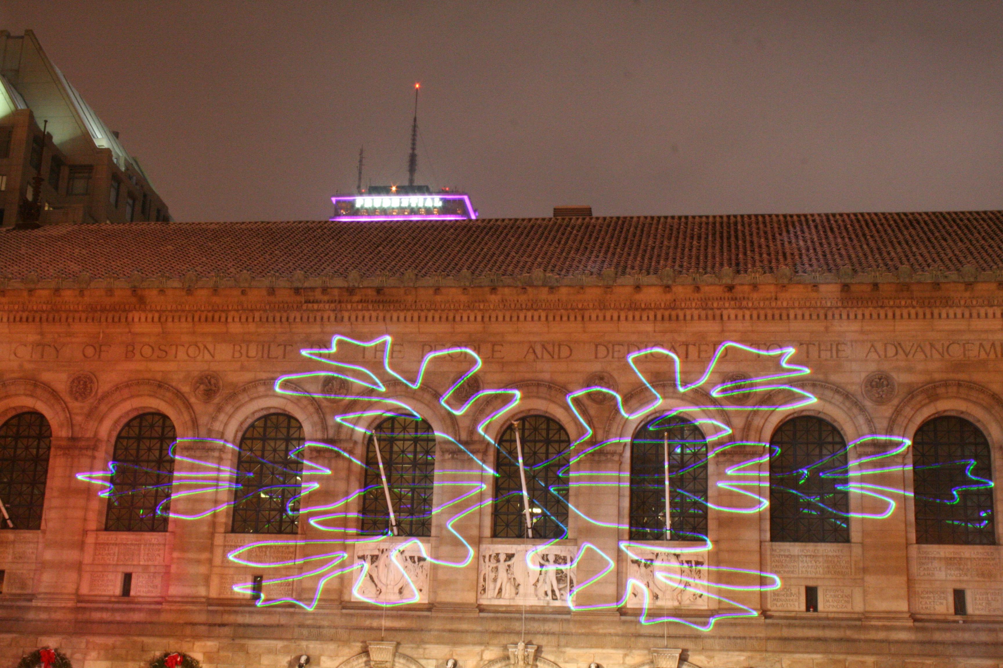 Boston NYE Laser Show