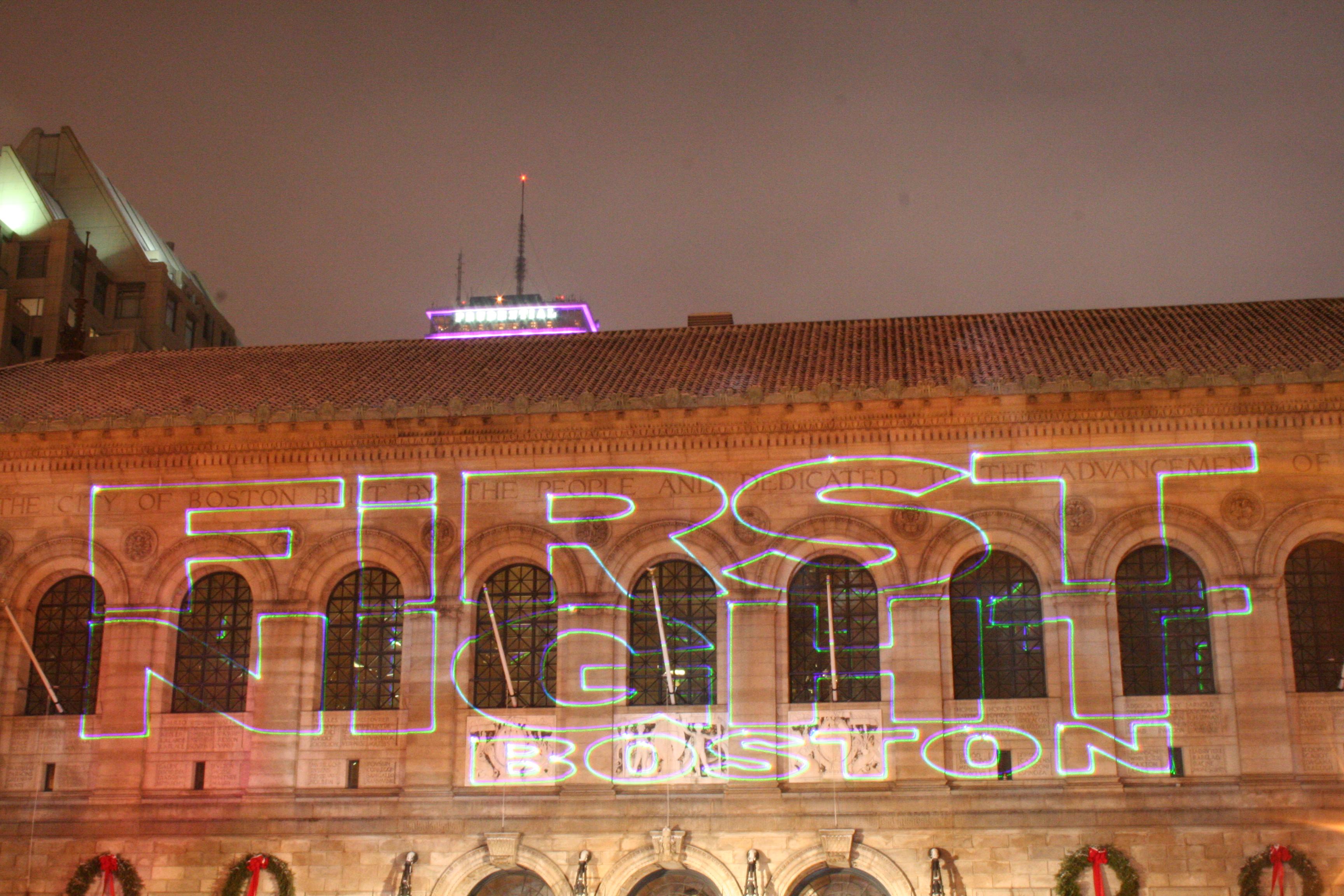 First Night Boston Laser Show