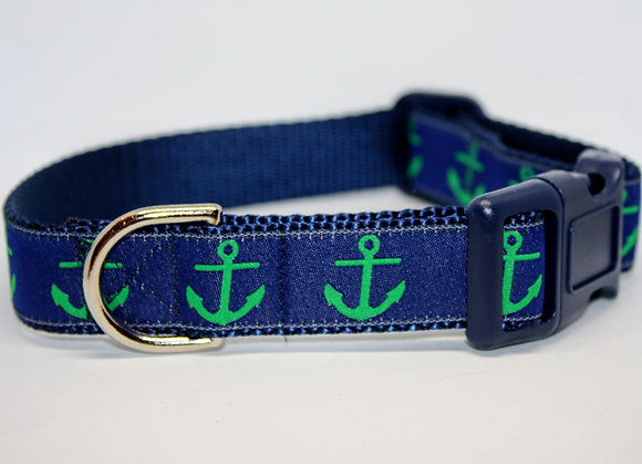 Green Anchors with Navy on Navy