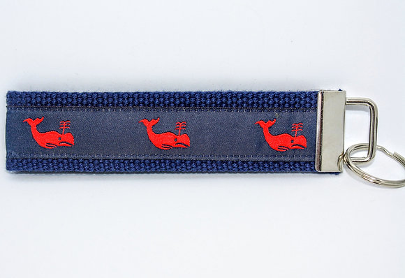 Red Whale with Navy on Navy