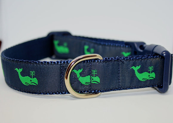 Green Whales With Navy on Navy