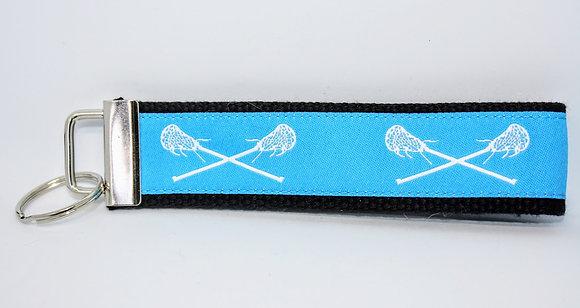 Turquoise Lacrosse on Black