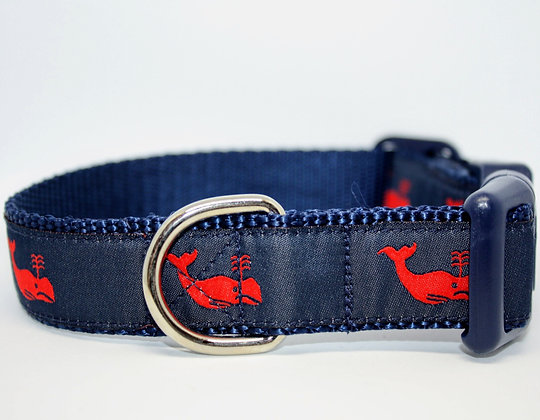 Red Whales With Navy on Navy