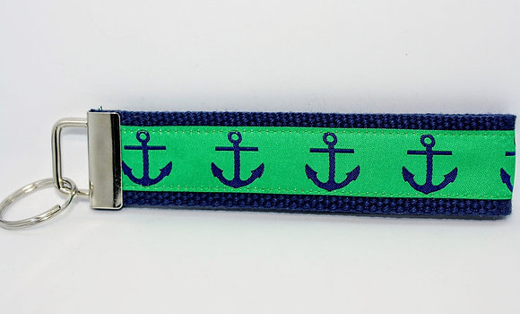 Navy Anchor with Green on Navy