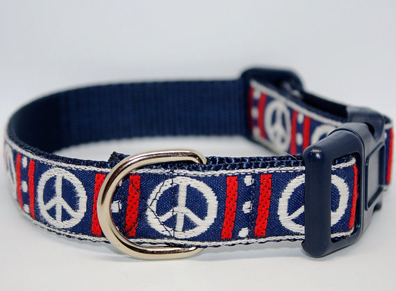 Peace Sign On Navy
