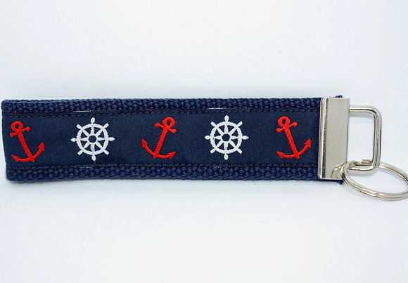 Helm and Anchor On Navy
