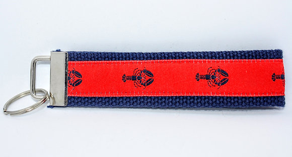 Blue Lobster with Red On Navy