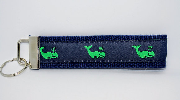 Green Whale with Navy on Navy