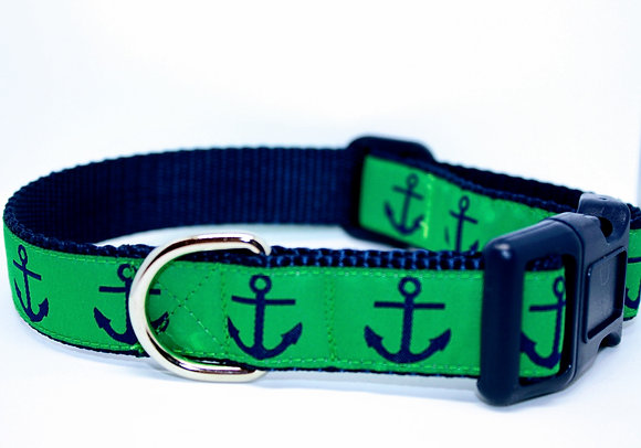 Blue Anchors with Green On Navy