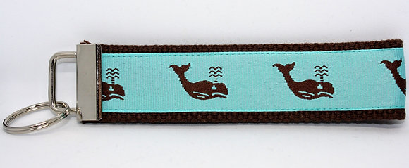 Brown Whales with Aqua on Brown