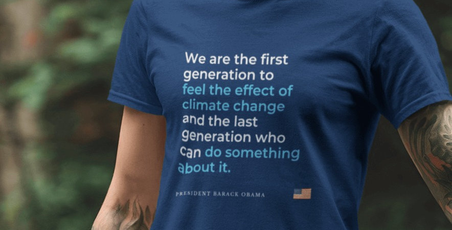 President Obama on Climate Change Tee
