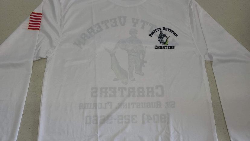 White Knotty Veteran Charters DriFit SPF50 Long Sleeve