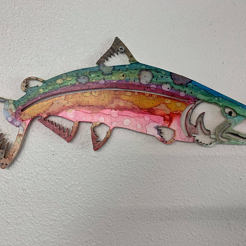(SOLD OUT) Metal Salmon - Soldotna