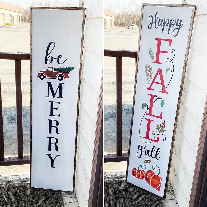 Holiday Porch Signs!