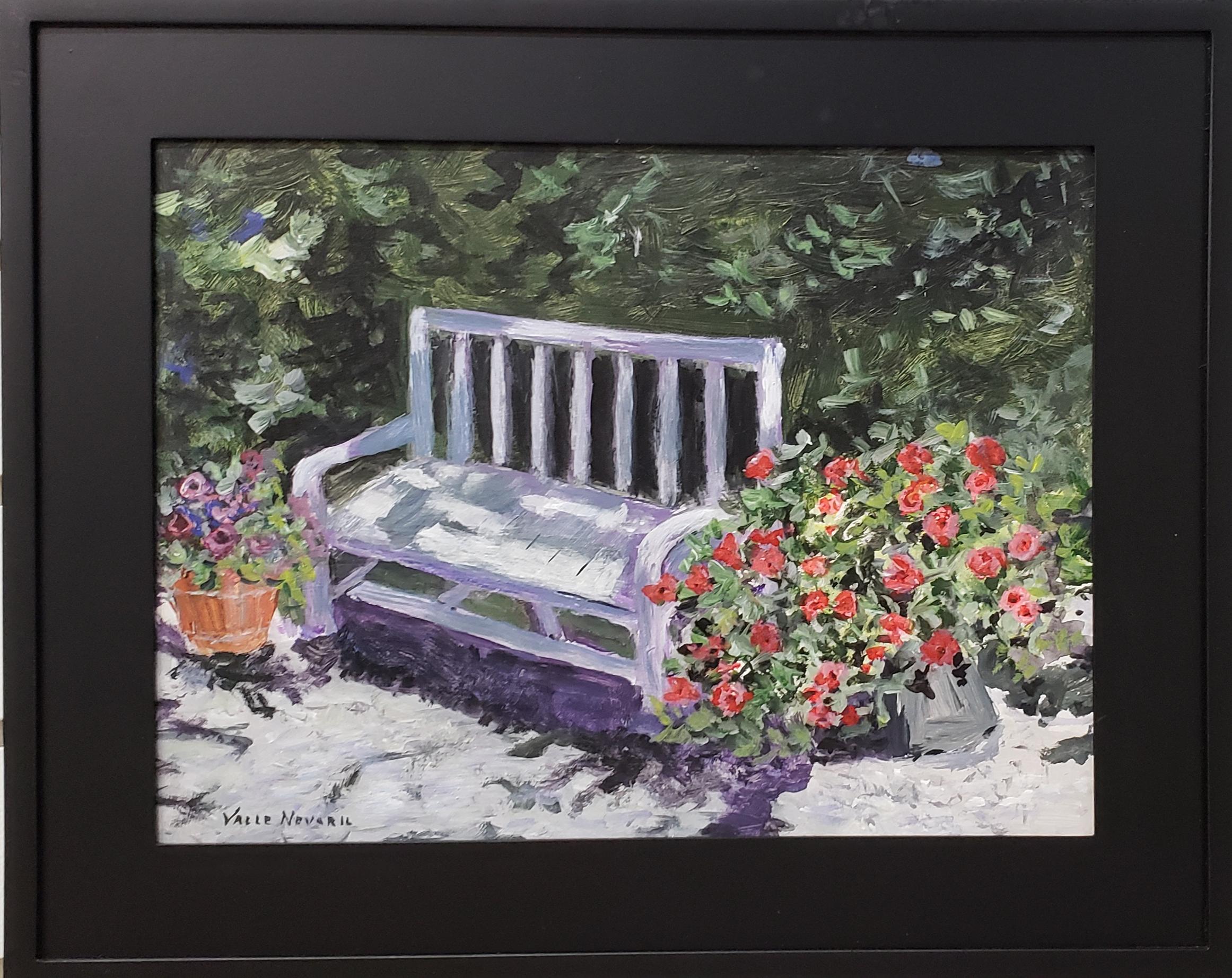 Bench in Camaraderie Garden~Acrylic