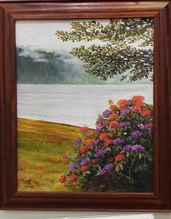 Misty Day at Lake Crescent ~ Oil