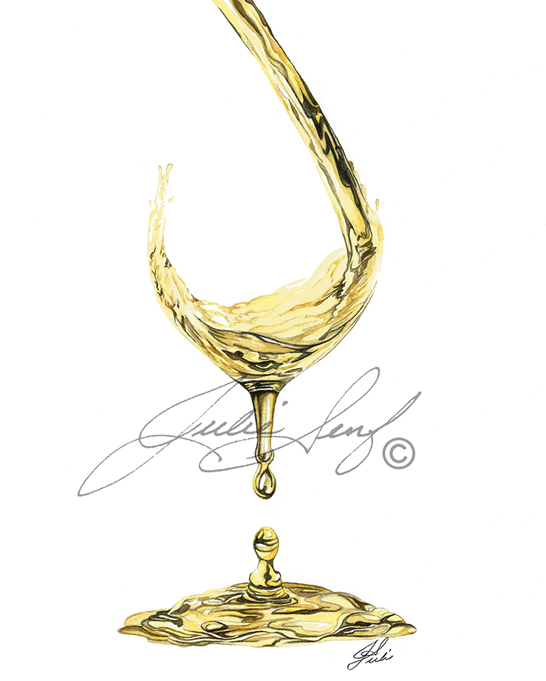 White Wine Pouring