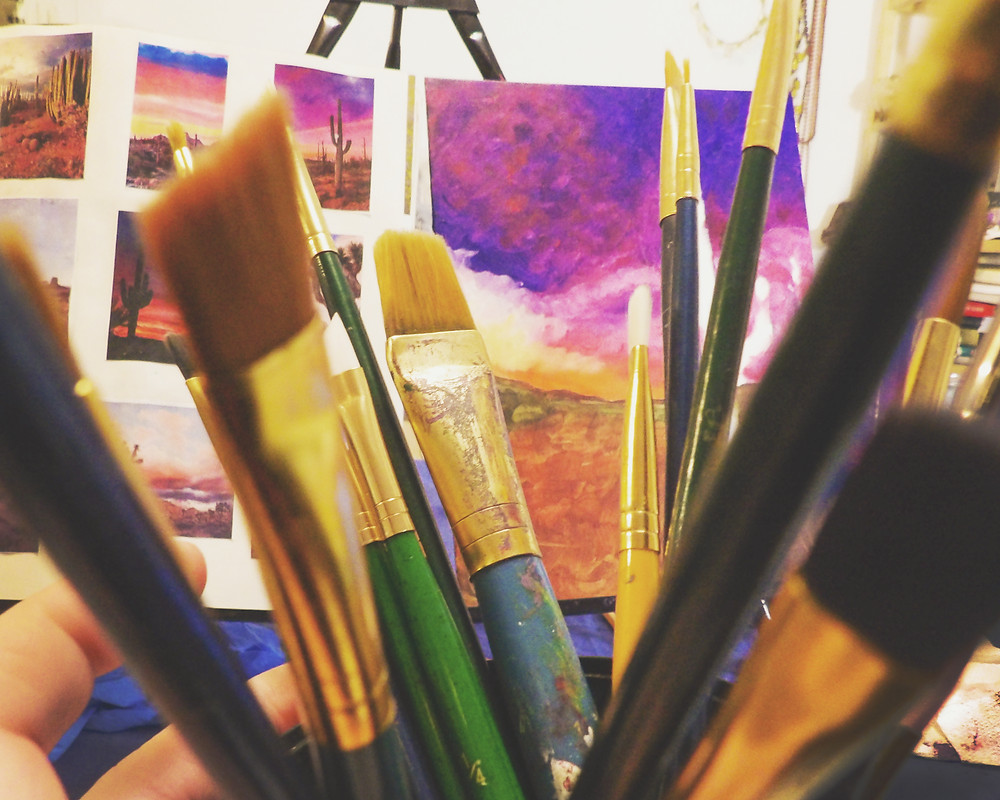 Art of Elura Painting and brushes