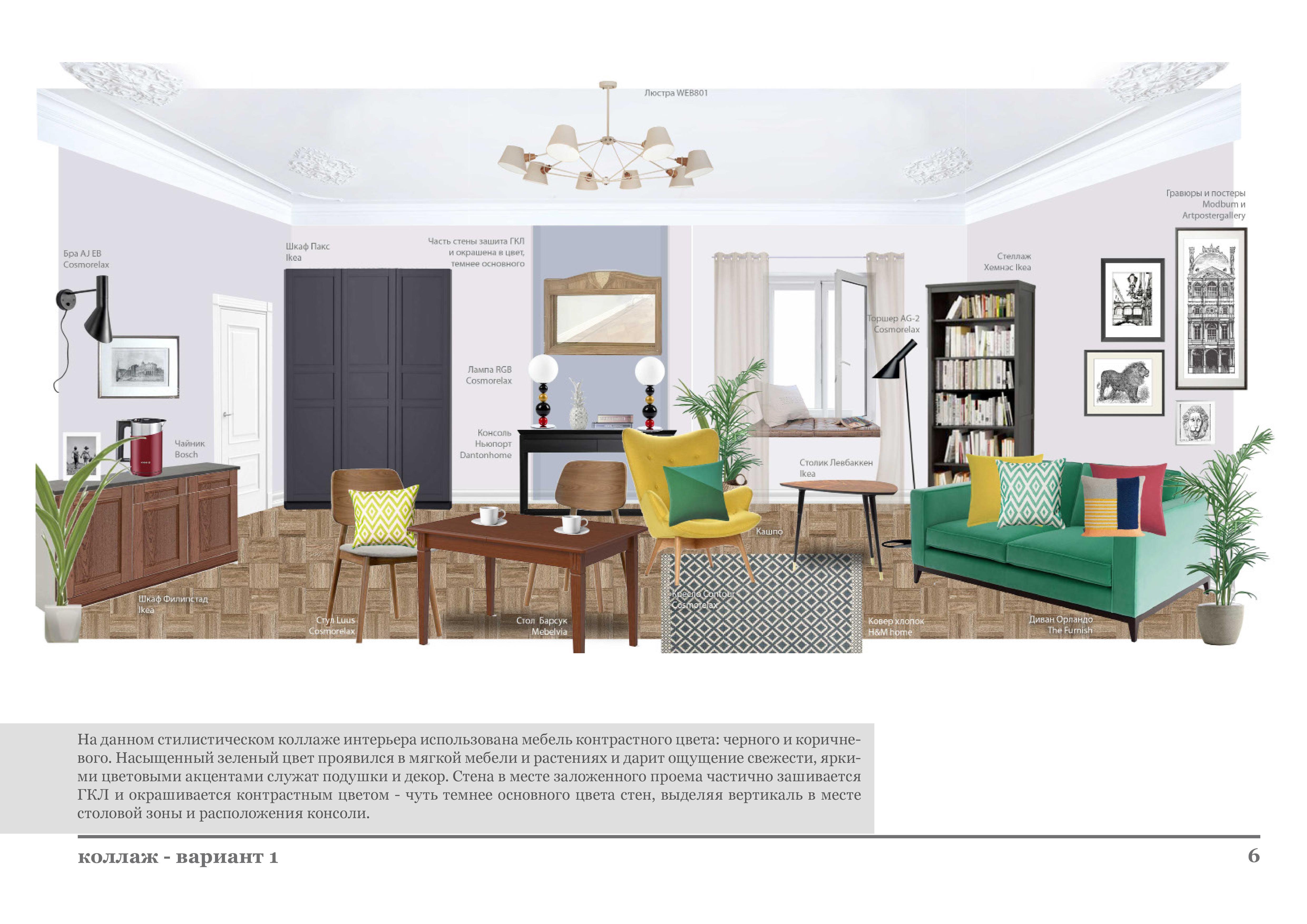 Пример дизайн-проекта комнаты