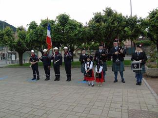 Cérémonie militaire à Thann