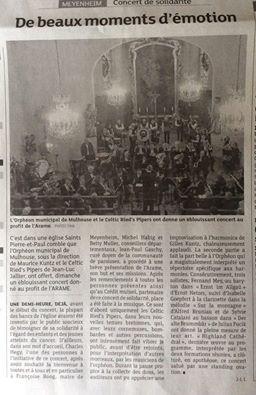 Article du DNA concert de Meyenheim
