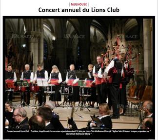 Article de presse concert Mulhouse
