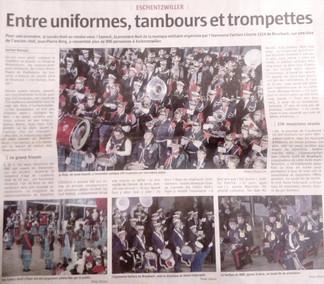 Article de l'Alsace, Nuit musique militaire