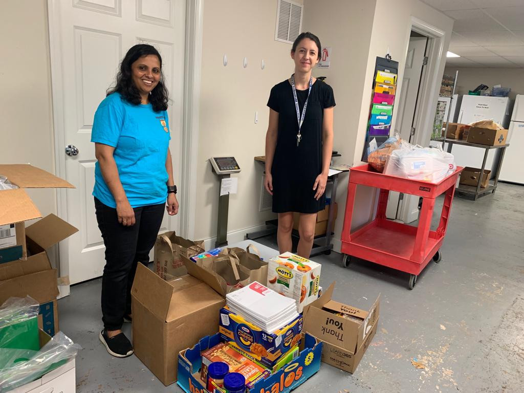 School Supplies Distribution in MD and VA Shelters
