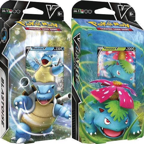 Pokemon TCG: V Battle Deck - Venusaur V and Blastoise V