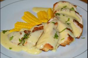 دجاج سوبريم بالصلصة البيضاء
