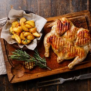 دجاج مشوي مع التتبيلة
