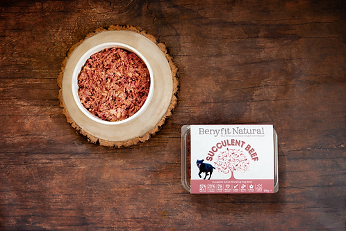 Succulent Beef Complete Adult Raw Working Dog Food