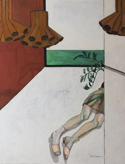 Dreams of Mars. 2017 Mixed media on canvas, 130x100 cm  / Мечты о Марсе. 2016  Холст, смеш. т., 130х100 см