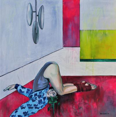 Marianna. 2018 Mixed media on canvas, 120x120 cm  / Марианна. 2018  Холст, смеш. т., 120х120 см