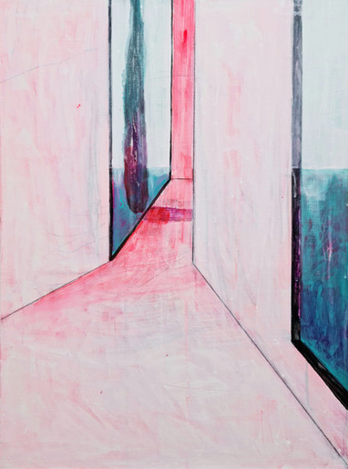 Between The Windows #2 60x45 cm mixed media on canvas 2021