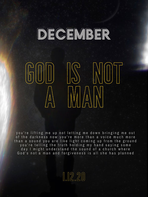 God is not a man - exclusive print